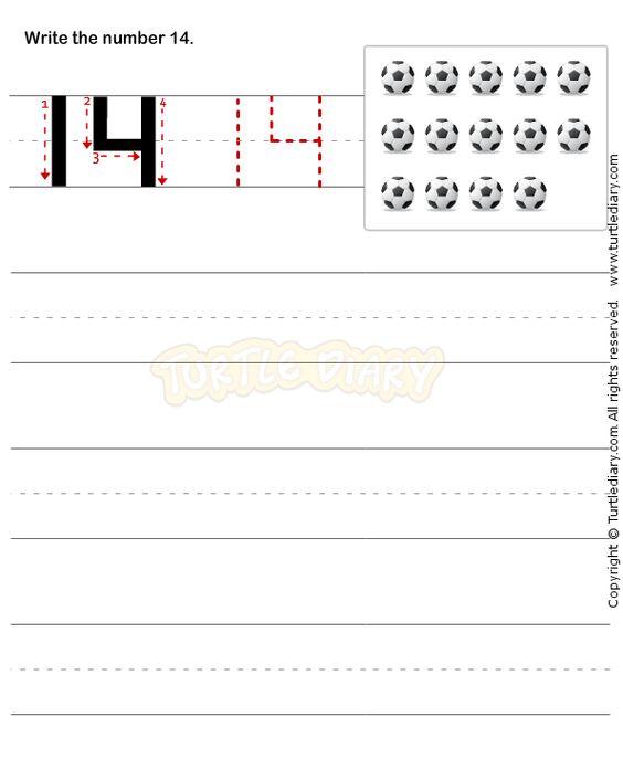 All Worksheets Number 14 Worksheets Free Printable Preeschool – Number 14 Worksheets