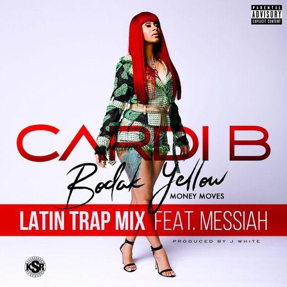 Cardi B, Messiah – Bodak Yellow (Latin Trap Remix) (single cover art)