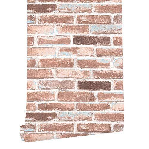 Haokhome H018 Faux Brick Wallpaper Peel And Stick Rust Re Https Www Amazon Com Dp B072kk5c51 Ref Cm Sw R P Faux Brick Wallpaper Brick Wallpaper Faux Brick