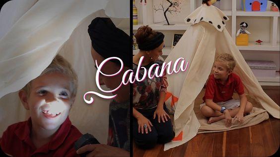 Kika Motta mostra como fazer uma cabana para brincar com os pequenos!