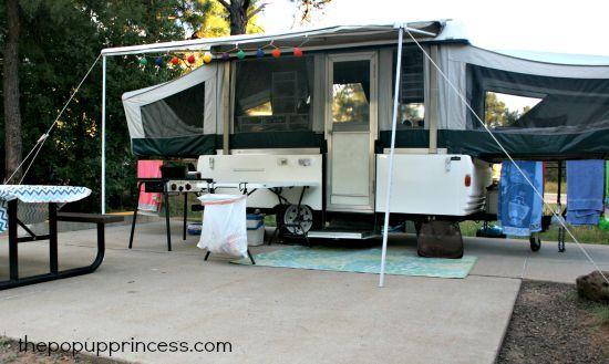 Pop Up Camper Organization
