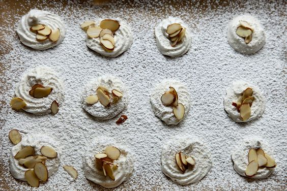 Joy the Baker Lemon Almond Meringues.  Meringues are the easiest (and tastiest) cookie ever!
