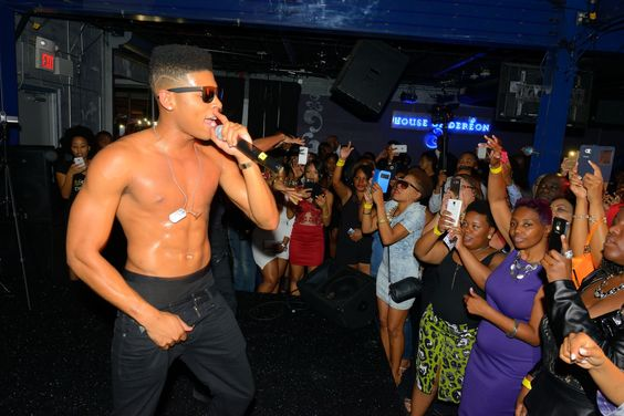 Empire's Yazz The Greatest on stage performing at the DESTINY Premiere Party October 10, 2015.