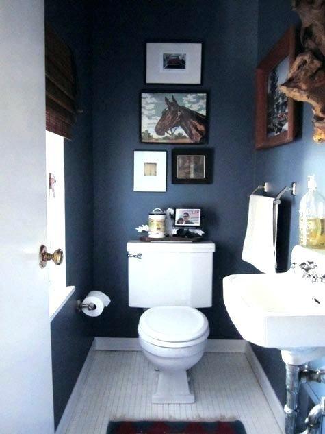Navy Blue And White Bathroom Saw Nail And Paint Coastal Bathroom Design Coastal Inspired Bathrooms Nautical Bathroom Decor