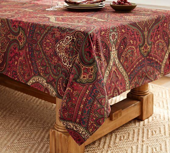 Barns Tablecloths And Paisley On Pinterest
