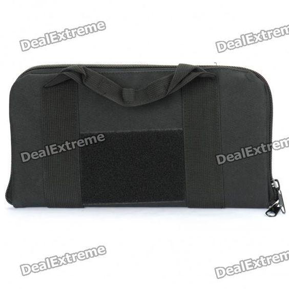 Oxford Cloth Airsoft Pistol Handgun Holster Carrying Bag - Black  Price: $18.00