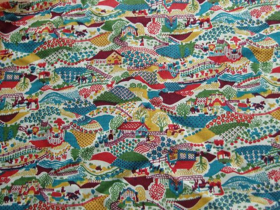Country farms fabric