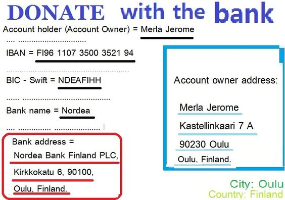 I HAVE 2 BANKS ACCOUNT....HELLO LADY GAGA! PARIS HILTON! VALENTINO ROSSI! FIRST BANK... NORDEA ...