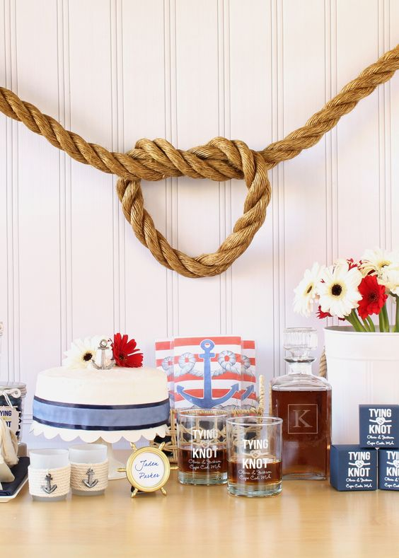 Tie the knot and sail away with your love! Shop the new collection of nautical favors, decorations and supplies.