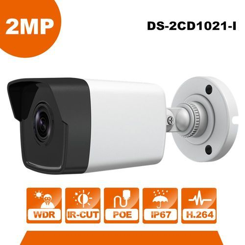 Hikvision Ds 2cd1021 I Cmos 2 Mp Network Bullet Camera Home Security Systems Wireless Home Security Systems Wireless Security System