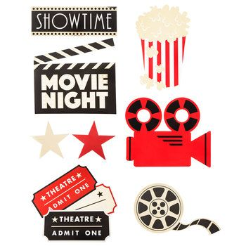 Movie Night Cut-Outs