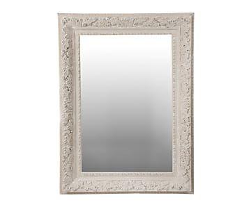 Espejo de pared de madera, crema - 90x120 cm