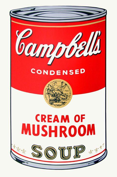 キャンベルのスープ缶  by アンディ・ウォーホル)