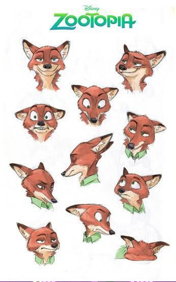 Nick Wilde Character Design And Disney Animation On Pinterest