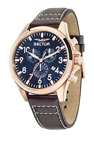 Sector Herren-Armbanduhr 180 Chronograph Quarz Leder R3271690019 - http://uhr.haus/sector/sector-herren-armbanduhr-180-chronograph-quarz-2