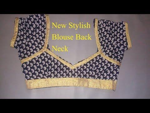 Easy And Simple Blouse Back Neck Designing Designer Blouse Latest Designs Of Ladies Blouses Yo Back Neck Designs Blouse Neck Designs Lace Blouse Design