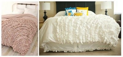 DIY version of the Urban Outfitters Ruffled Duvet. Super Easy! I am totally going to do this