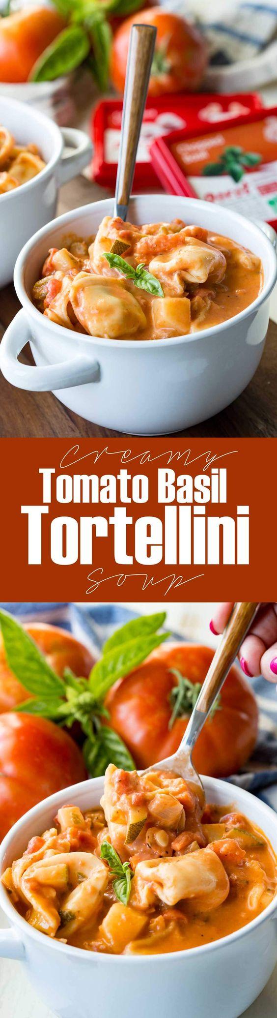Creamy Tomato Basil Tortellini Soup - Eazy Peazy Mealz