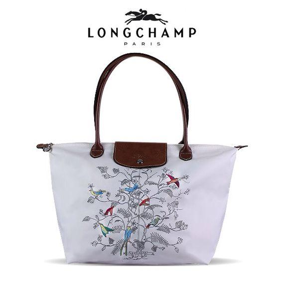 Longchamp Embroidered Birds