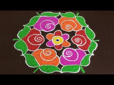 288 Rangoli Art 11 To 6 Dots Easy Rangoli Designs Rangavalli Festival Arts Youtube Colorful Rangoli Designs Rangoli Border Designs Rangoli Designs