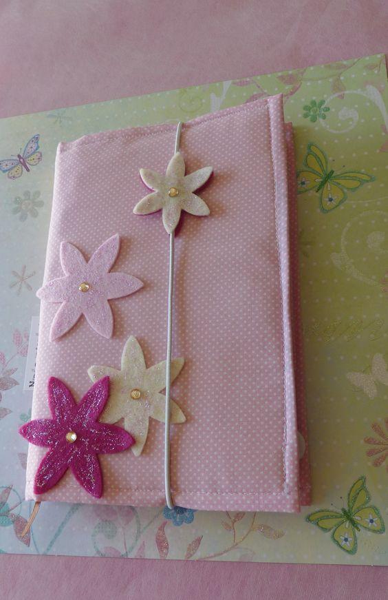 Capa de caderno ou agenda em tecido de tamanho A5