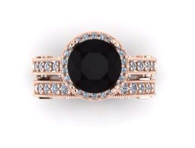 CROWNED LOVE 18kt Rose Gold 3.00ct Round by PristineCustomRings, $2790.00