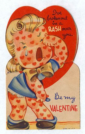 This is a real valentine from the 1950's.