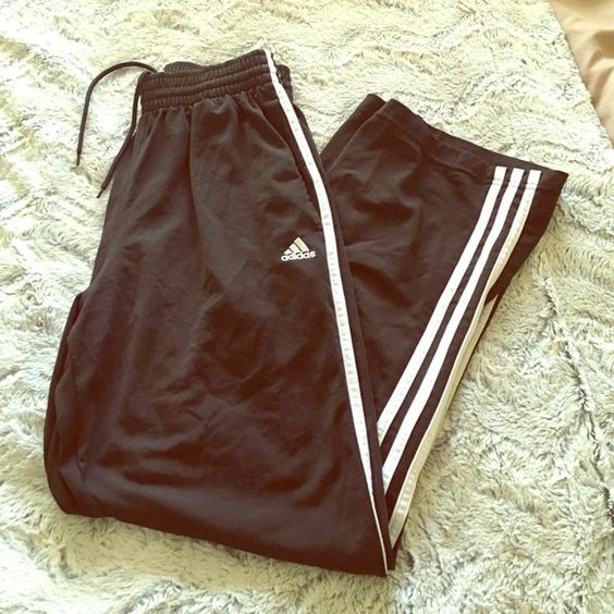 ADIDAS TRACK PANTS FOR MEN Adidas track pants for men - has side pockets - worn Adidas Pants Track Pants & Joggers