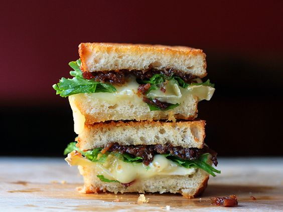 bacon jam + brie grilled cheese