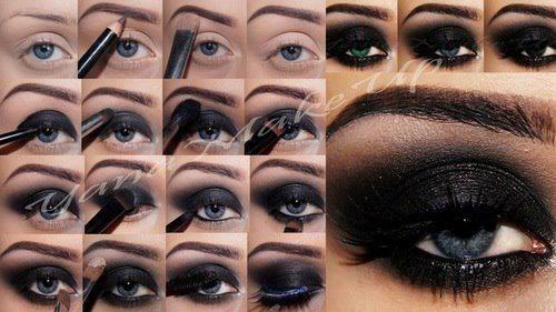 The perfect smokey eye makeup #beauty