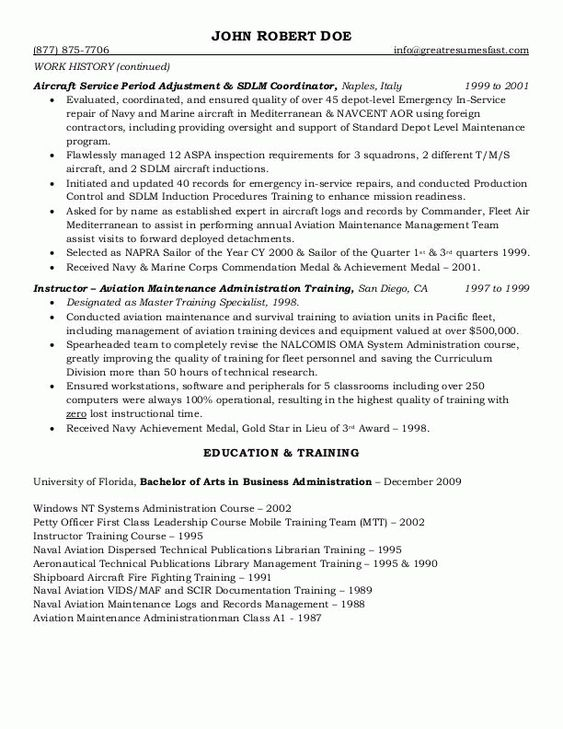 10 Government Resume Examples that lead you to Get Your Dream Job - allocation analyst sample resume