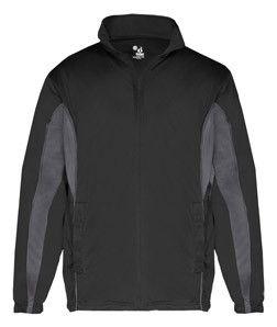 Badger Adult Drive Jacket B7703 Black/ Graphite