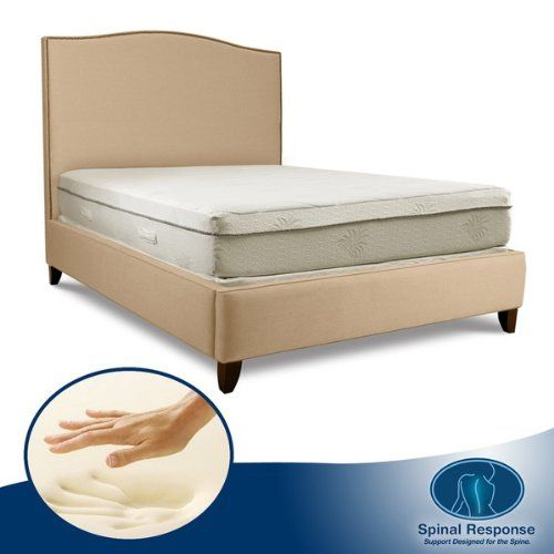 Special Offers - Spinal Response Aloe Gel Memory Foam 11-inch Smooth Top Mattress  Queen - In stock & Free Shipping. You can save more money! Check It (July 16 2016 at 05:17PM) >> http://airmattressusa.net/spinal-response-aloe-gel-memory-foam-11-inch-smooth-top-mattress-queen/