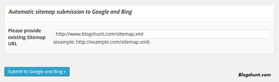 how to submit sitemap of a website on google and bing blogshunt