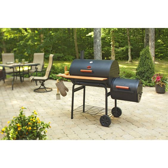 Shop Char-Griller Barrel 29-in Black Powder Coat Barrel Charcoal Grill at Lowes.com