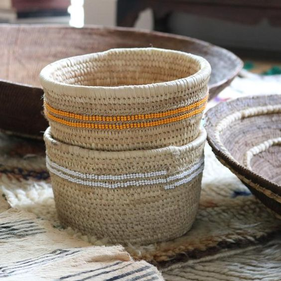 These incredibly durable baskets are hand woven by Samburu and Rendille women in…