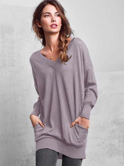 Double V-neck Tunic A Kiss of Cashmere