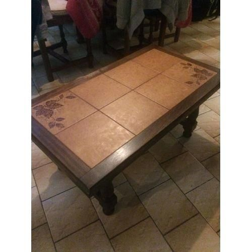 Table Basse Carrelage Repeindre Table Basse Table Basse Table Ronde Bois