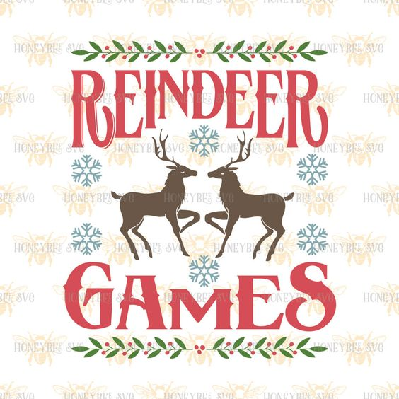 Reindeer Games svg Christmas svg Christmas decor svg Farm Holiday svg Country…