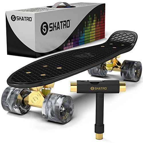 Skateboard Retro Mini Cruiser Perfect Complete Board Vintage Plastic Skateboards 22x6inch