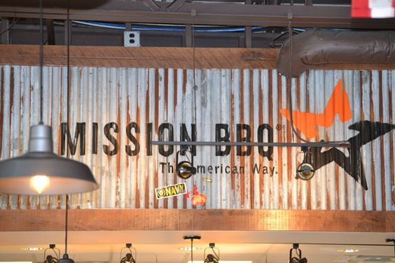 Restaurant graphics and corrugated metal on pinterest