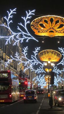 London christmas lights....NYC has nothing o compare to this...the most magical Christmas destination I could ever imagine..every major thorough fare is decorated like this