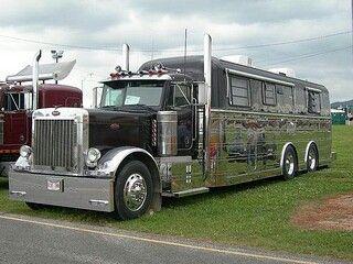 """truckingworldwide: """"Peterbilt custom 379 mobile home """""""