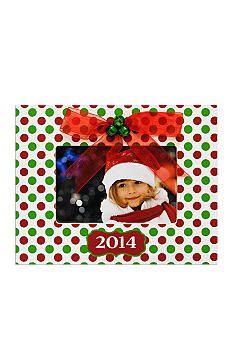 New View Polka Dot 2014 Holiday 4x6 Photo Frame