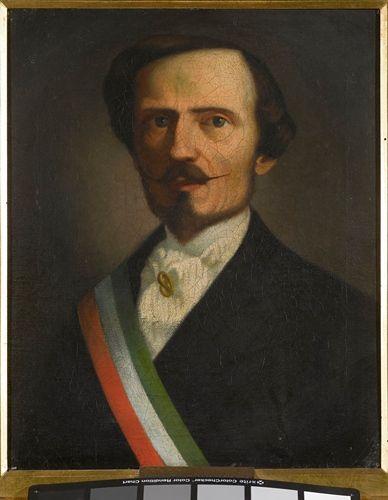 Raffaello Sernesi (It, 1838-1866) - Ritratto di Bettino Ricasoli - 1859