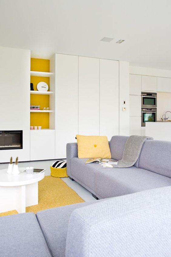 Matte witte keuken, geel accent, scandinavisch design,   mariska ...