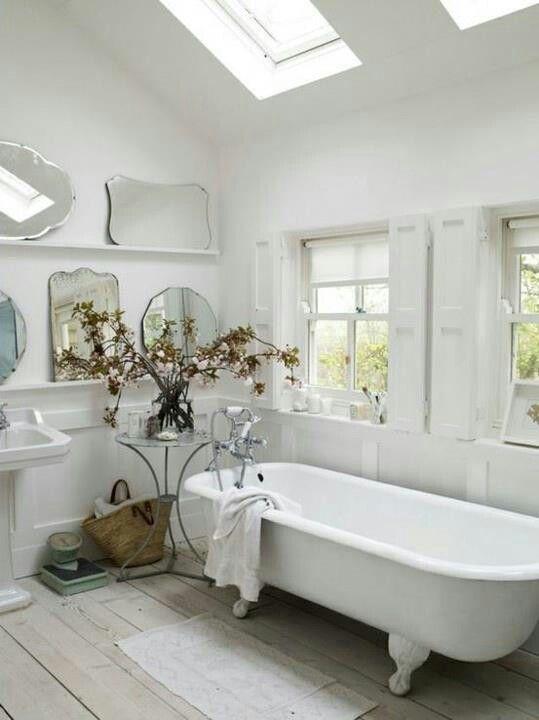 Baños Estilo Shabby Chic:shabby chic tejas de madera cuarto de baño chic antiguo porcelana