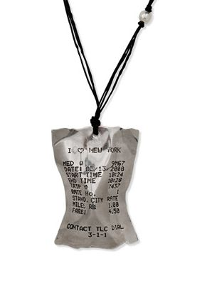 NYC Taxi Necklace by Kristin Victoria Barron