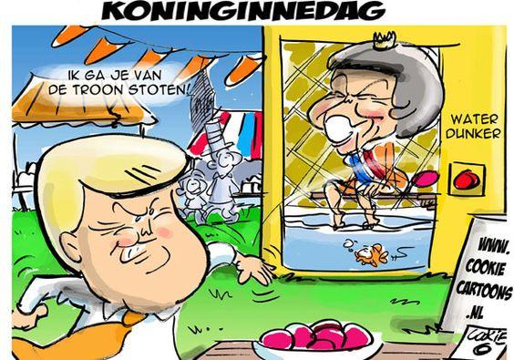 karikaturen uit de media