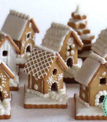 Casette Dolci Di Natale.Casette Di Biscotto Dolci Di Natale Nel 2019 Alimenti Di